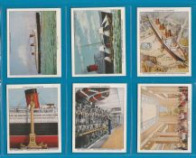Tobacco cigarette cards The Queen Mary 1936 set  large size